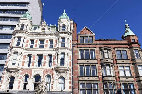 Arhitectura veche Belfast Irlanda Regatul Unit cer Imagine de stoc © benkrut