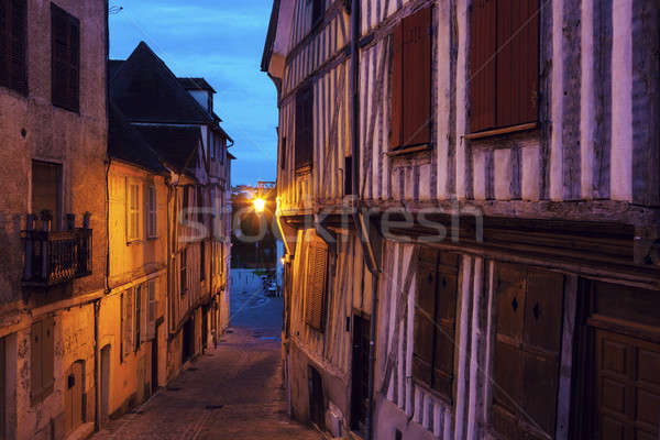 Old architecture of Auxerre Stock photo © benkrut
