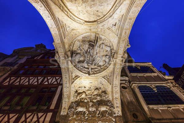 ív nagyszerű óra Normandia Franciaország égbolt Stock fotó © benkrut