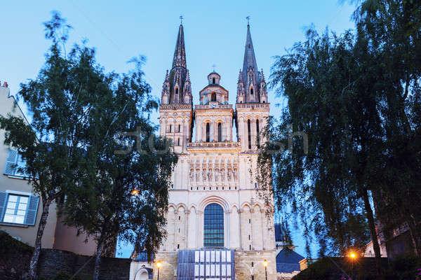 Catedral la céu cidade azul urbano Foto stock © benkrut
