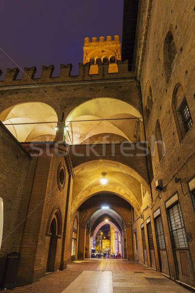 Architecture of Piazza Maggiore in Bologna Stock photo © benkrut