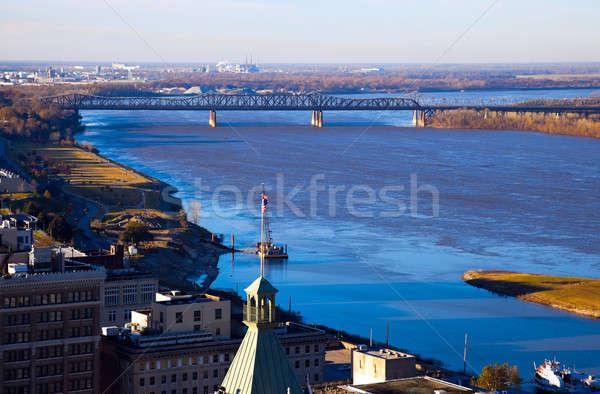 Mississipi nehir şehir merkezinde mimari Stok fotoğraf © benkrut