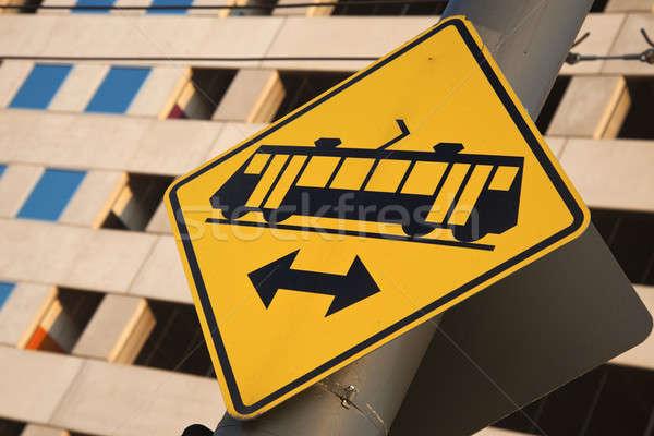 Tramway sign Stock photo © benkrut