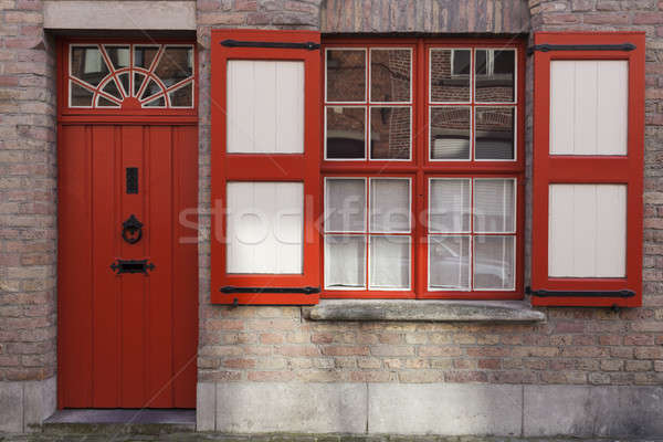 Colorful streets of Bruges  Stock photo © benkrut