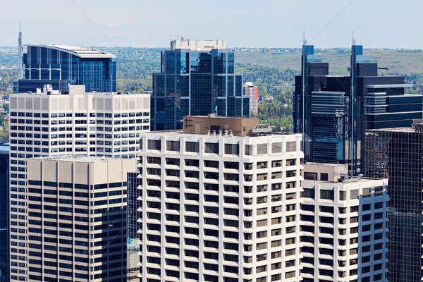 Moderne centrum calgary wolkenkrabber Stockfoto © benkrut