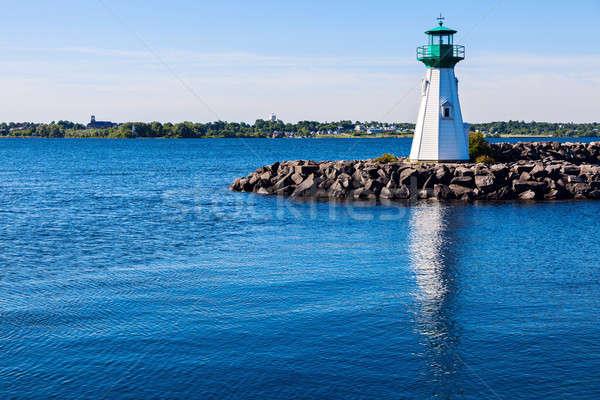 Dziedzictwo port latarni Vermont widoku rzeki Zdjęcia stock © benkrut