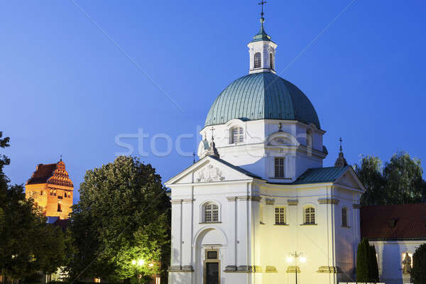 Церкви Варшава Польша вечер время девственница Сток-фото © benkrut