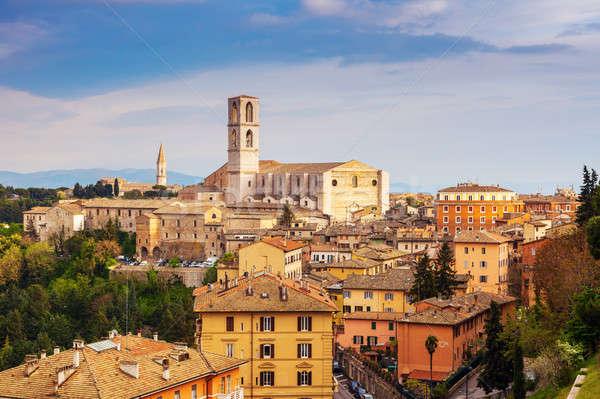 Basilica of San Domenico in Perugia Stock photo © benkrut