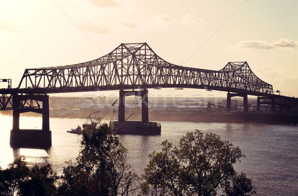 Bridge on Mississippi River in Baton Rouge Stock photo © benkrut