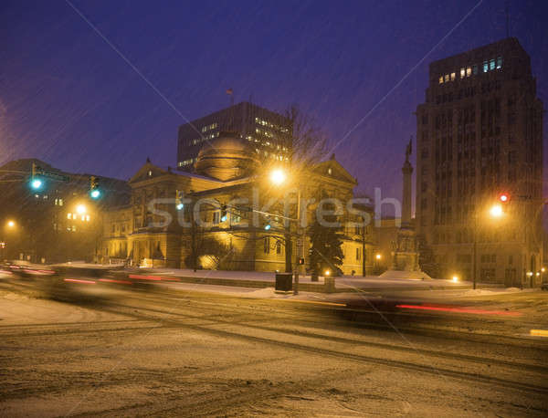 Snow storm in South Bend  Stock photo © benkrut