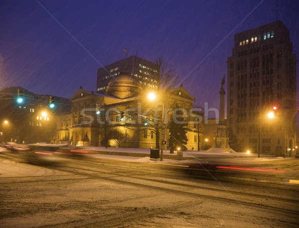 Hóvihar dél kanyar Indiana Stock fotó © benkrut