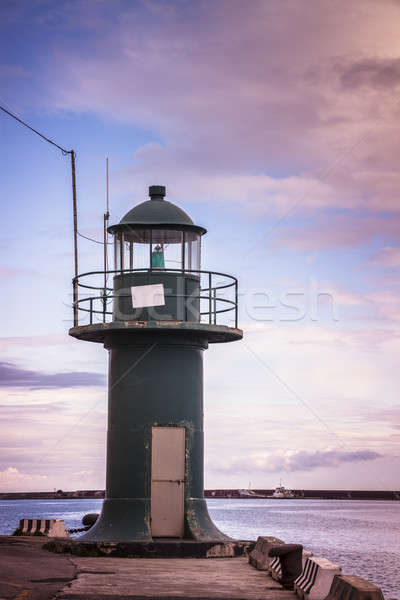 Small lighthouse in Genoa Stock photo © benkrut