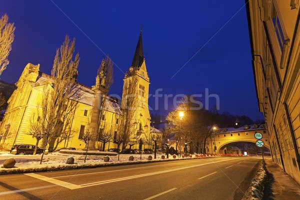 House over Karlov road and St. James's Parish Church  Stock photo © benkrut