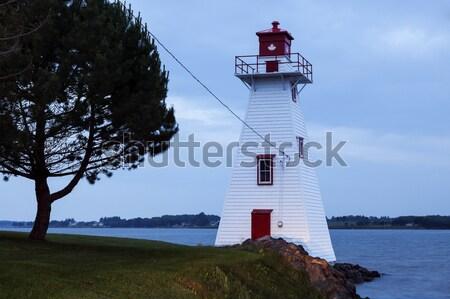 Plaj deniz feneri prens prince edward adası Stok fotoğraf © benkrut
