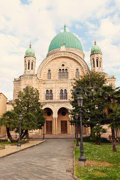 Groot synagoge florence Toscane Italië Stockfoto © benkrut