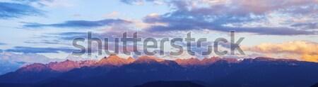 Massif de Belledonne seen from Grenoble  Stock photo © benkrut