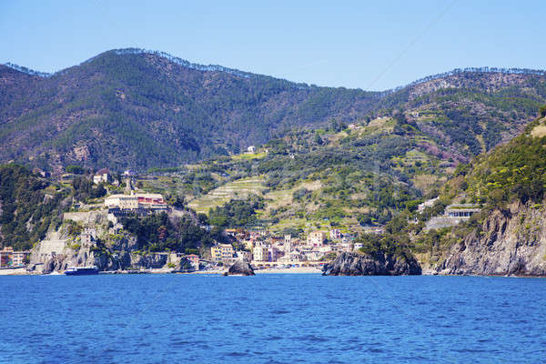 Monterosso architecture from the sea Stock photo © benkrut