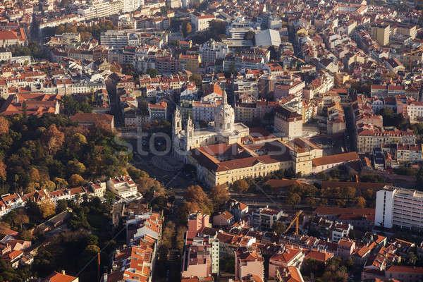 Basiliek luchtfoto stad zonsondergang straat skyline Stockfoto © benkrut
