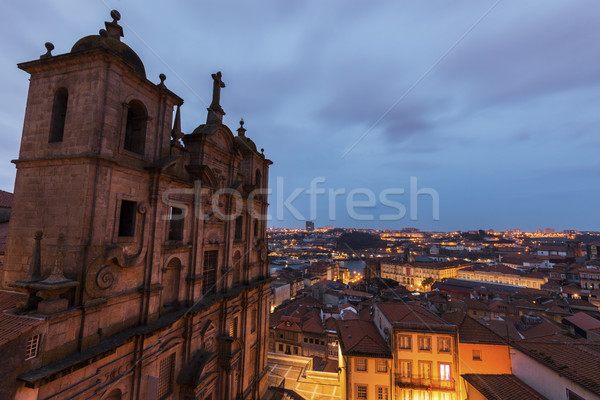 Stockfoto: Kerk · zonsopgang · gebouw · reizen · skyline · Europa