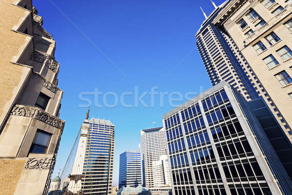Indianapolis architecture with State Capitol and Soldier and Sai Stock photo © benkrut