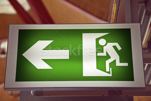 Emergency Exit on the airport Stock photo © benkrut