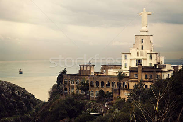 Libanon Krisztus szobor templom épület tenger Stock fotó © benkrut