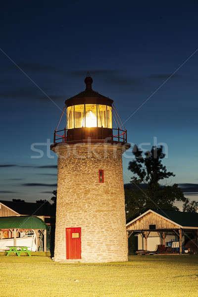 Hamis kacsa sziget világítótorony Ontario Kanada Stock fotó © benkrut