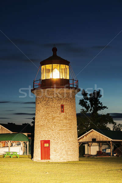 Stock fotó: Hamis · kacsa · sziget · világítótorony · Ontario · Kanada