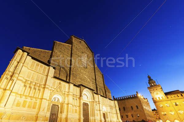 Basiliek kerk Blauw reizen skyline architectuur Stockfoto © benkrut