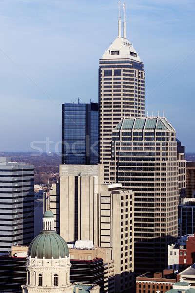 Indiana linha do horizonte cidade EUA escritório viajar Foto stock © benkrut