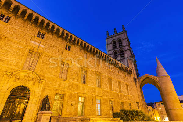 Montpellier Cathedral at evening Stock photo © benkrut