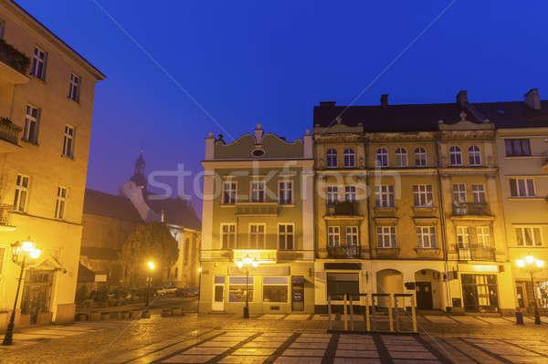 Principale piazza Polonia città blu viaggio Foto d'archivio © benkrut