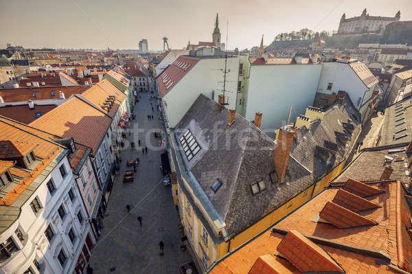 Bratislava panoramă Slovacia primăvară oraş Imagine de stoc © benkrut