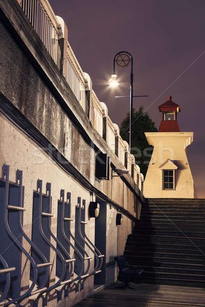 Foto stock: Farol · novo · edifício · mar · oceano · viajar