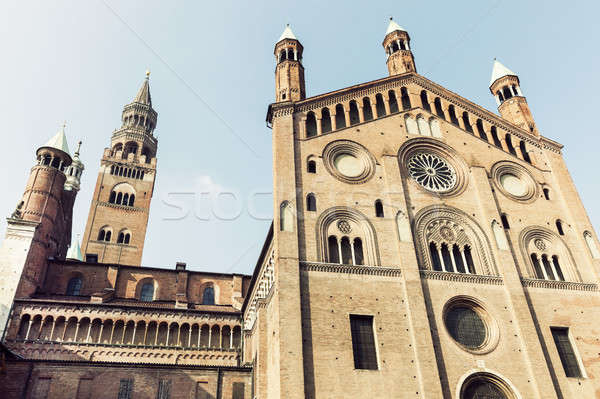 Cremona Cathedral on Piazza del Comune in Cremona Stock photo © benkrut