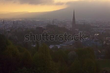 Linz panorama at sunrise  Stock photo © benkrut