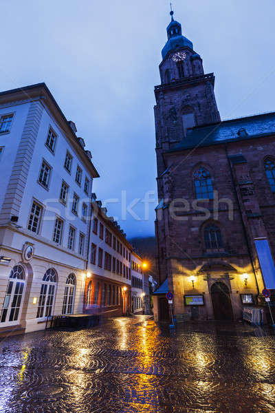 Church of the Holy Spirit on Marktplatz in Heidelberg Stock photo © benkrut