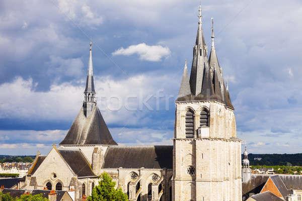 Kilise gökyüzü şehir ışık mavi Stok fotoğraf © benkrut