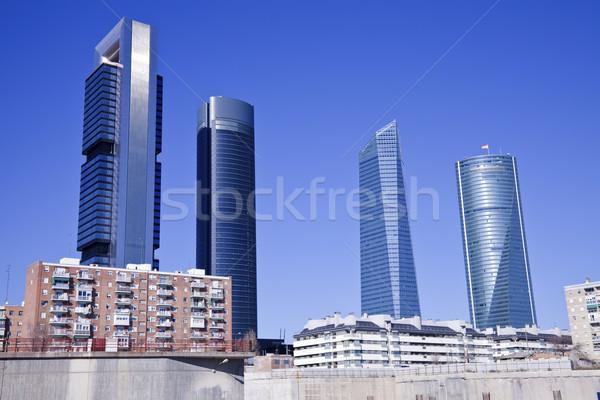 Madrid Spanje gebouw stad reizen Stockfoto © benkrut