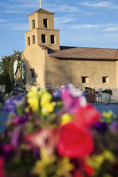 Flowers in front of the Sanctuary Of Guadalupe Stock photo © benkrut