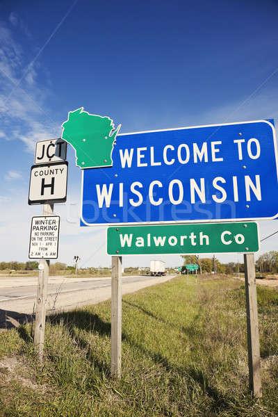 Stock fotó: üdvözlet · Wisconsin · tavasz · reggel