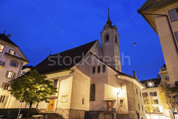 İsviçre gündoğumu gökyüzü şehir manzara seyahat Stok fotoğraf © benkrut