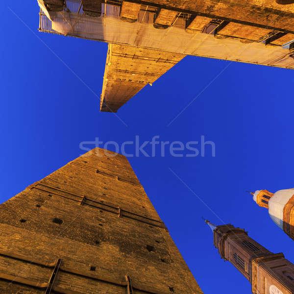 Asinelli Tower in Bologna Stock photo © benkrut