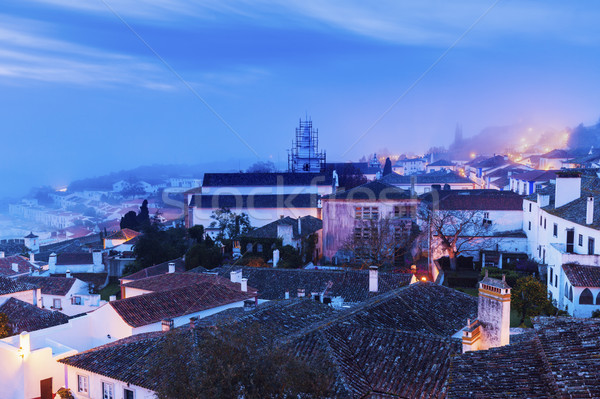 Old Town in Obidos, Portugal Stock photo © benkrut