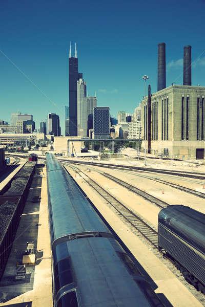 Pociągu Chicago centrum południe strona Zdjęcia stock © benkrut