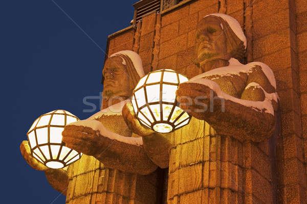 Principale gare détails bâtiment Helsinki Photo stock © benkrut