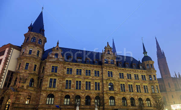 Rathaus and Marktkirche in Wiesbaden  Stock photo © benkrut