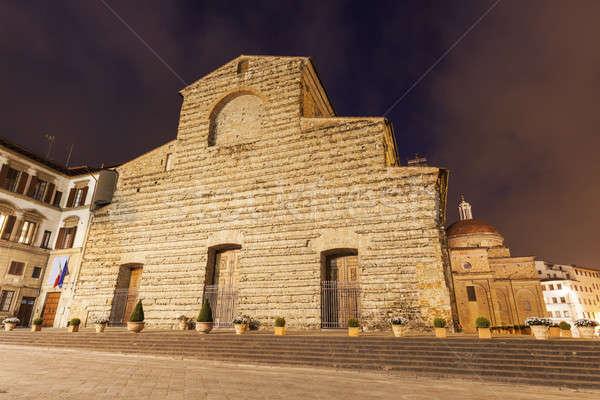 Bazilika Florence Toszkána Olaszország templom utazás Stock fotó © benkrut