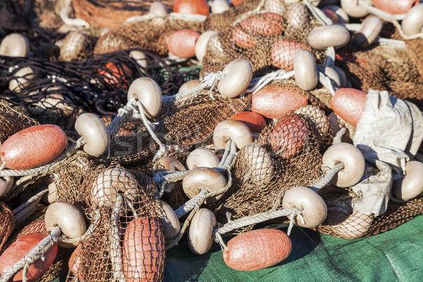 漁網 魚 スカイライン 釣り アーキテクチャ ツール ストックフォト © benkrut