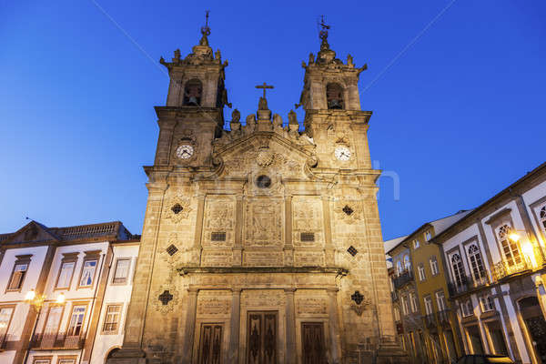 Santa Cruz Church in Braga at dawn Stock photo © benkrut